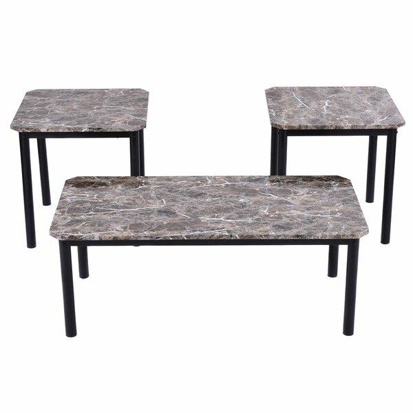Farias 3 Piece Coffee Table Set