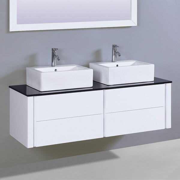 Kingston 60 Double Vanity Set with Mirror by Orren Ellis