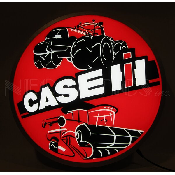 Case IH International Harvester Tractors Backlit LED Lighted Sign Themed by Neonetics