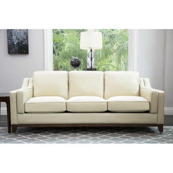 Cendejas Top Grain Leather Sofa by Charlton Home
