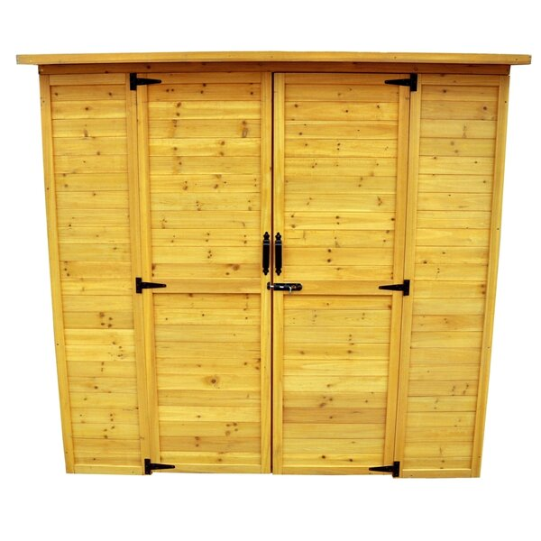 6 ft. 3 in. W x 3 ft. 1 in. D Wooden Lean-To Tool Shed by Leisure Season