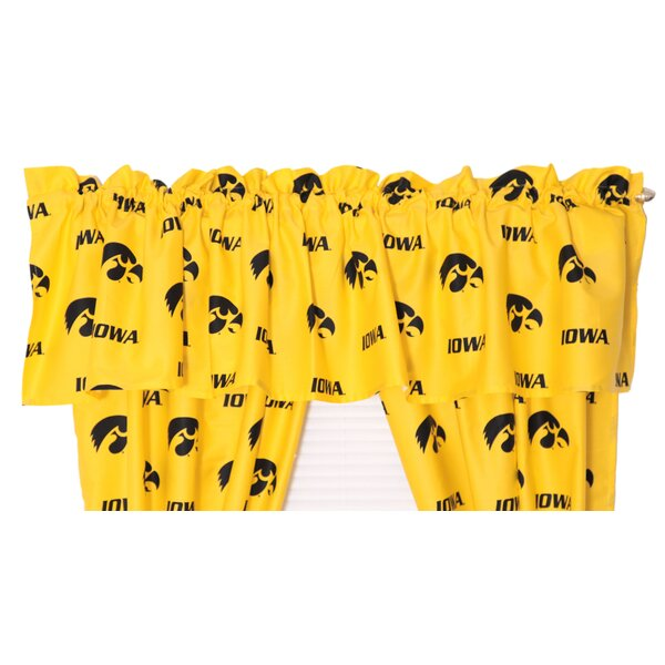 NCAA Iowa 84 Curtain Valance by College Covers