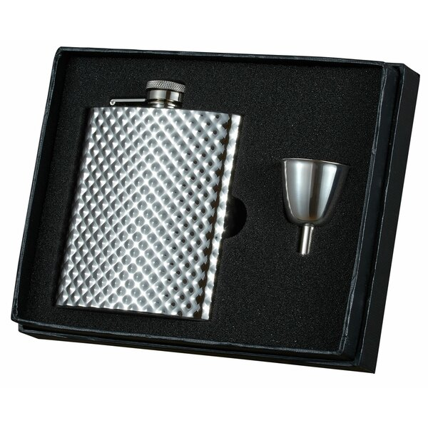 Rhombus Stainless Steel Legacy Flask Gift Set by Visol Products