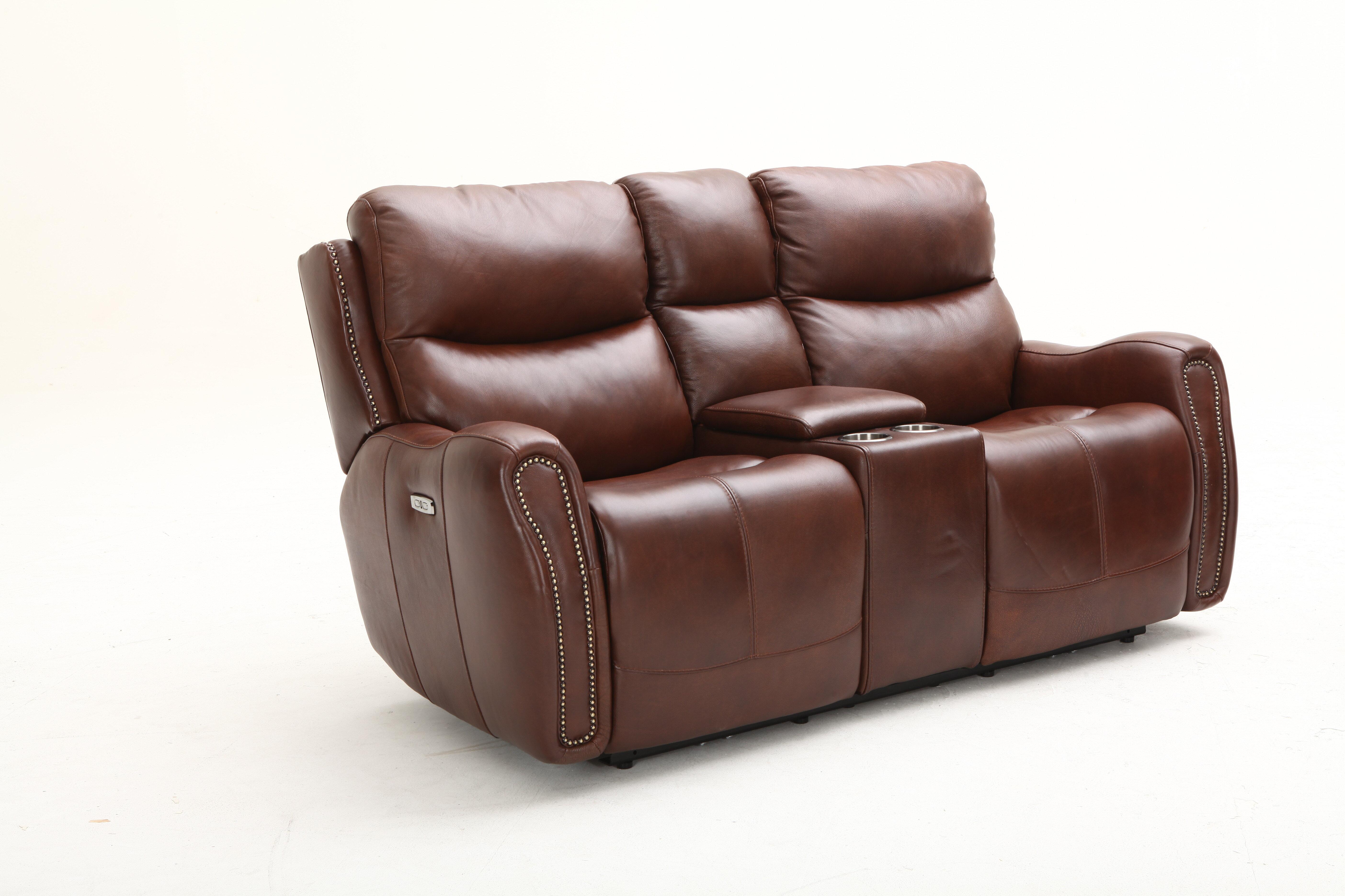 Marvelous Ellington Leather Reclining Loveseat Short Links Chair Design For Home Short Linksinfo