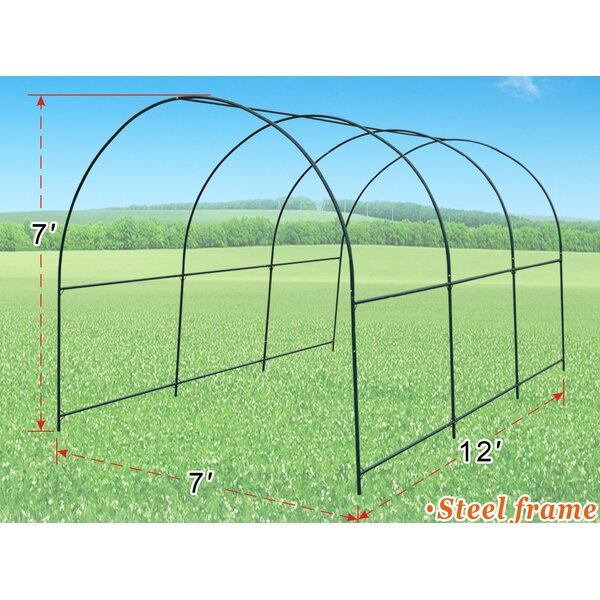 7 Ft. W x 12 Ft. D Greenhouse by Strong Camel