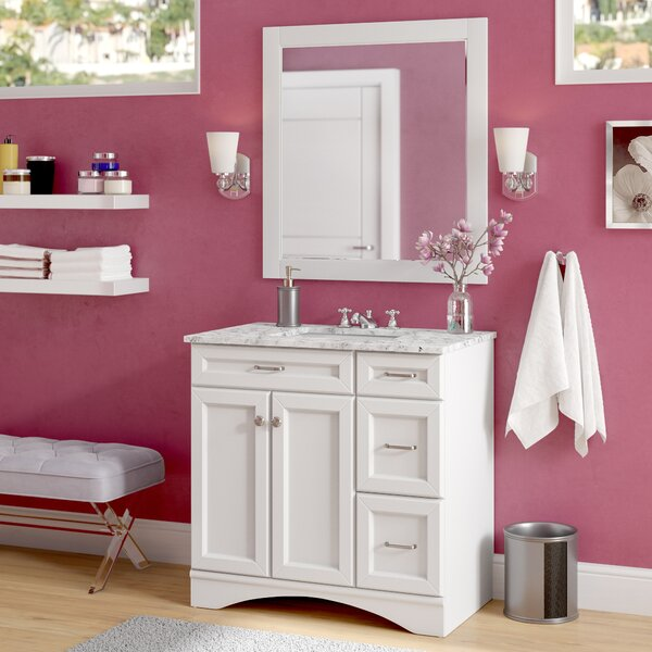 Madi 36 Single Vanity Set with Mirror by Willa Arlo Interiors