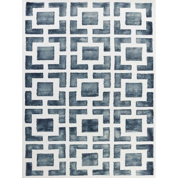 Eltingville Gray/White Area Rug by Wrought Studio