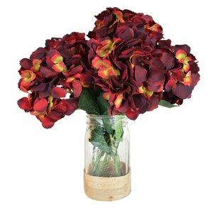 Sugarmill Hydrangea Bouquet in Rope Embellished Mason Jar