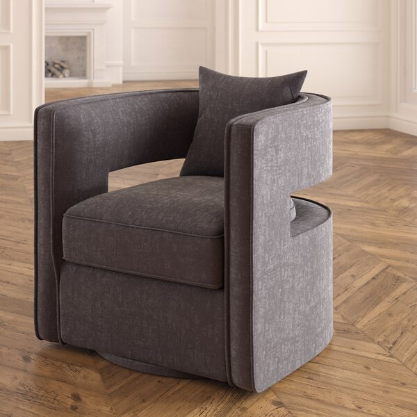 Beahm Swivel Barrel Chair by Ivy Bronx Ivy Bronx