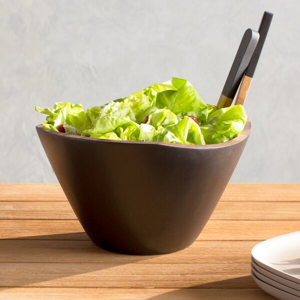 Woodbine Acacia 3 Piece Salad Bowl and Server Set by Mint Pantry