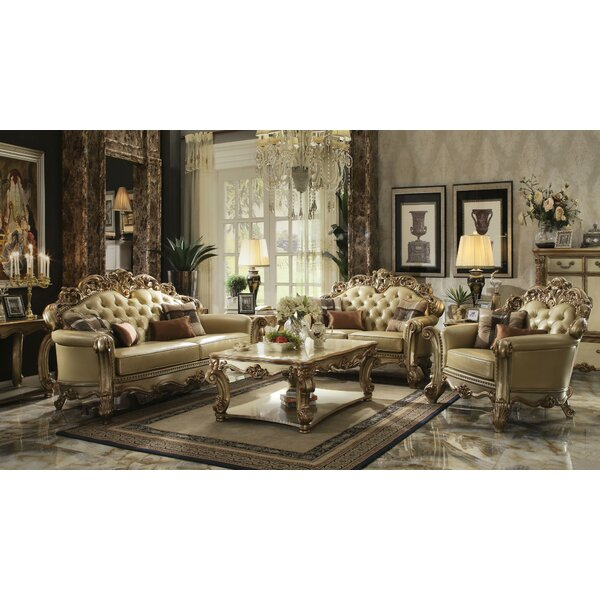 Review Dorothea 3 Piece Living Room Set