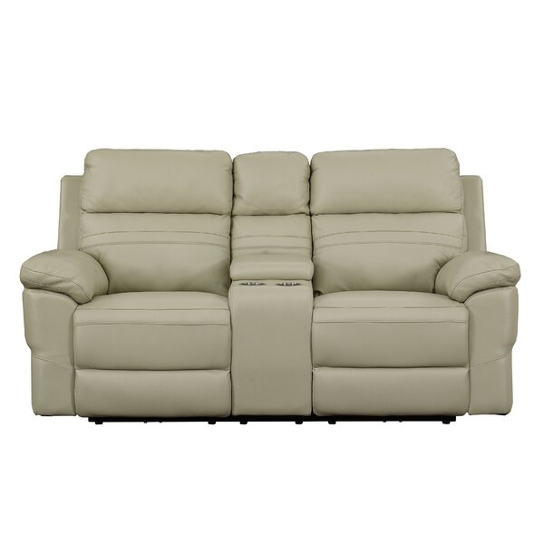 Top Reviews Caistor Leather Reclining Loveseat by Red Barrel Studio by Red Barrel Studio