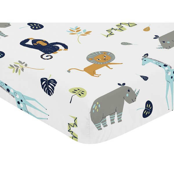 Mod Jungle Fitted Crib Sheet by Sweet Jojo Designs
