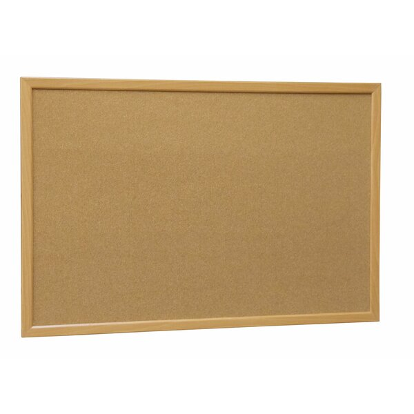 Wood Framed Cork Wall Mounted Bulletin Board by NeoPlex