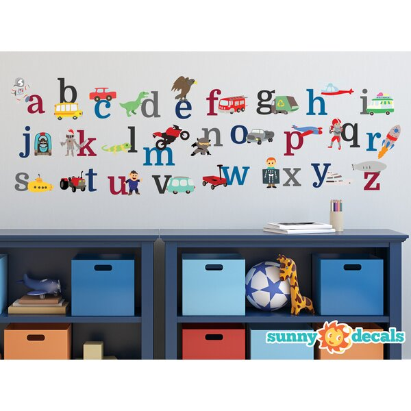 Alphabet Fabric Wall Decal by Sunny Decals