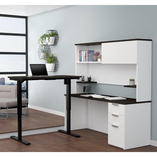Hartleton Reversible L-Shape Corner Desk with Hutch by Latitude Run