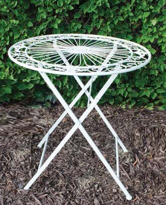 Aiyana Folding Metal Bistro Table by August Grove