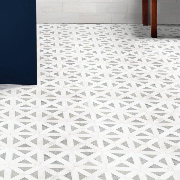 Bianco Dolomite Marble Novelty Mosaic Wall & Floor Tile