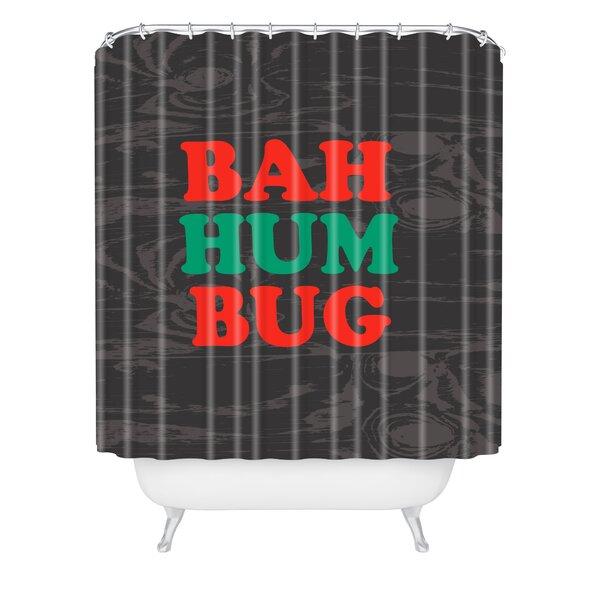 Zoe Wodarz Bah Humbug Shower Curtain by East Urban Home
