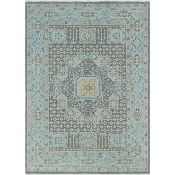 Rosewood Hand-Knotted Gray Indoor Area Rug by Canora Grey