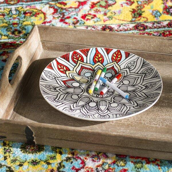 Kadence Mandala Just Add Color Platter by Bungalow Rose
