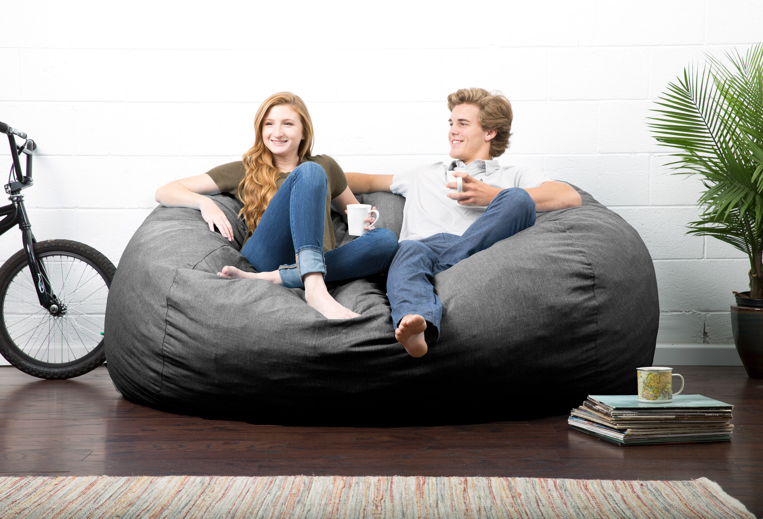 Remarkable Big Joe Lux Extra Large Bean Bag Sofa Camellatalisay Diy Chair Ideas Camellatalisaycom