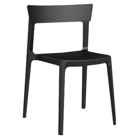 Skin Armless Stacking Chair by Calligaris