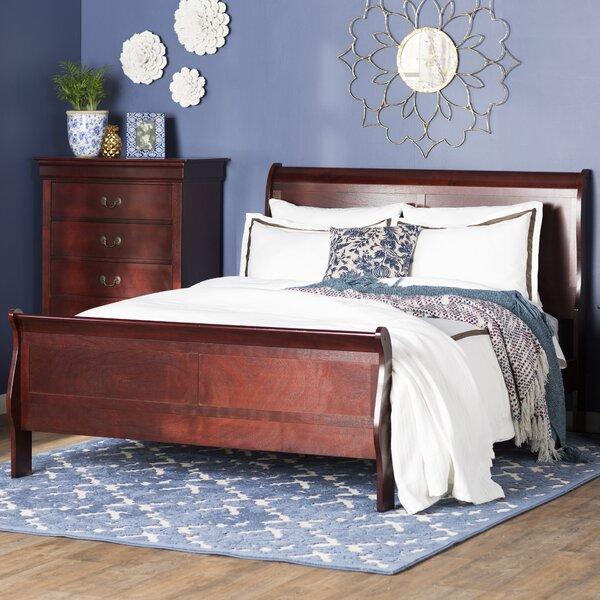 three posts birchview queen sleigh bed reviews wayfair - Sleigh Bed Frame Queen