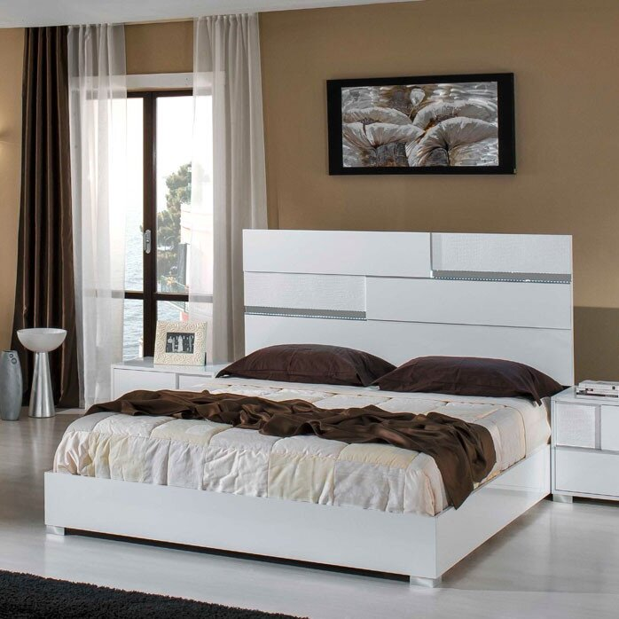 VIG Furniture Modrest Ancona Queen Panel 5 Piece Bedroom Set ...