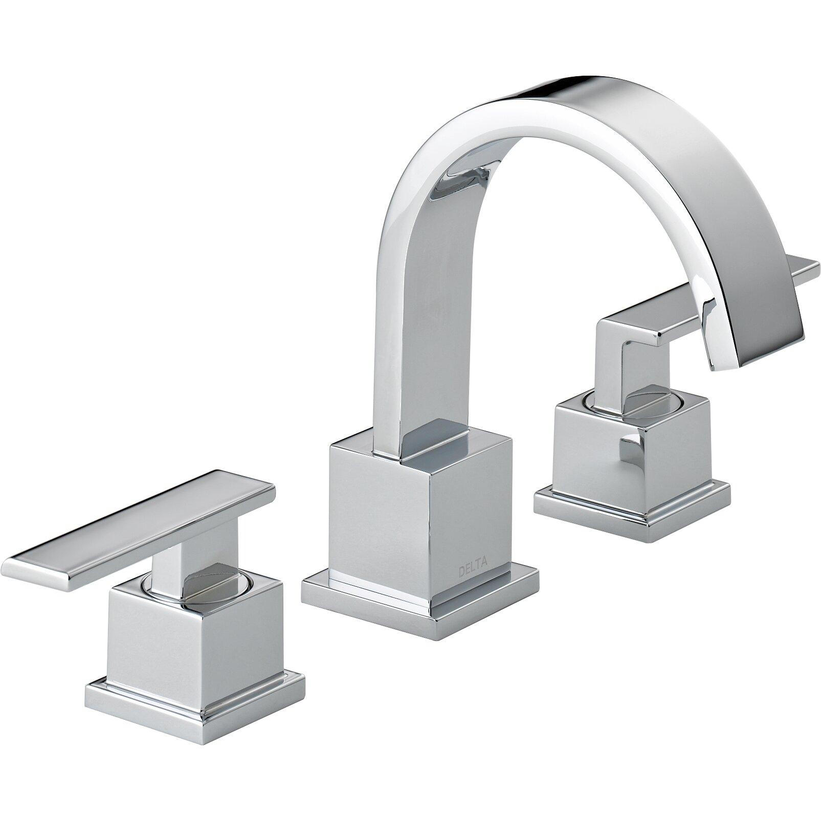 Cross Handle Bathroom Faucet Delta Vero Two Handle Widespread Bathroom Faucet Reviews Wayfair