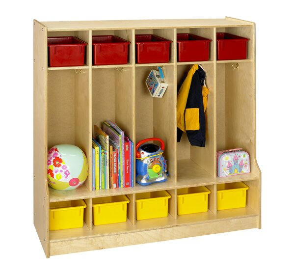Cubbie 3 Tier 5 Wide Coat Locker by A&E Wood Designs