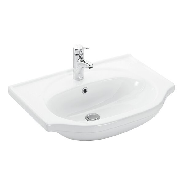 Basic Ceramic 26.3 Wall Mount Bathroom Sink with Overflow by WS Bath Collections