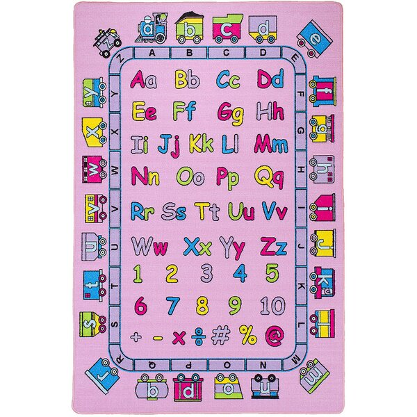 Halcott Kids Abc Fun Pink Indoor/Outdoor Area Rug by Zoomie Kids