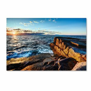 Sunrise Over the Atlantic in Maine by David Ayash Photographic Print on Wrapped Canvas by Trademark Fine Art