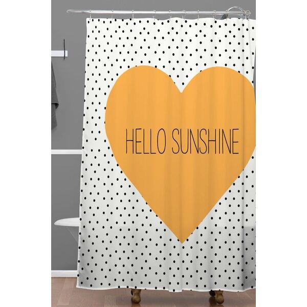 Dawley Hello Sunshine Heart Polyester Shower Curtain by Brayden Studio