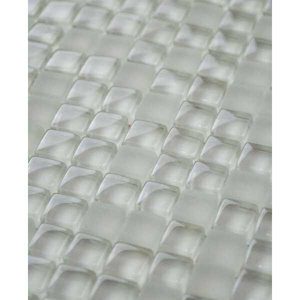 Micron 0.38 x 0.38 Glass Mosaic Tile in Latte by Madrid Ceramics