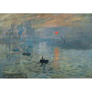 'Impression Sunrise' by Claude Monet Painting Print on Canvas by Charlton Home