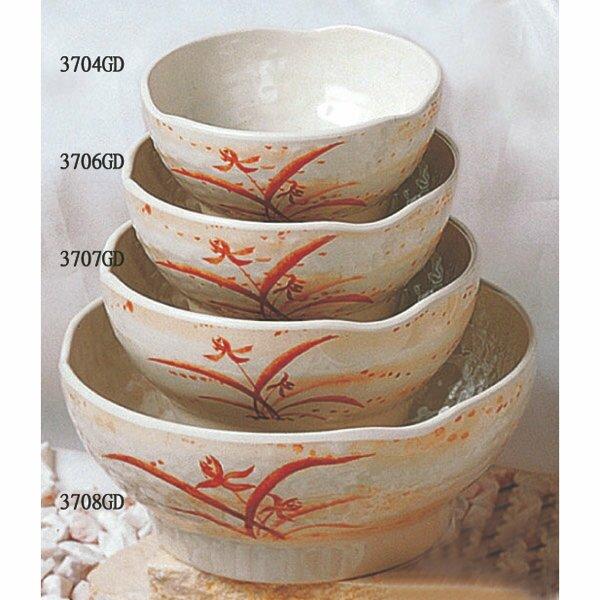 Herrera 14 oz. Melamine Wave Rice Bowl (Set of 12) by Bloomsbury Market