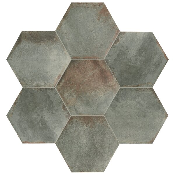 Relic Hex 11 x 12.63 Porcelain Field Tile in Muschio by EliteTile