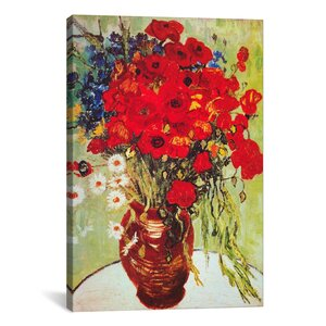 'Vase with Daisies and Poppies' by Vincent van Gogh Graphic Art Print by East Urban Home