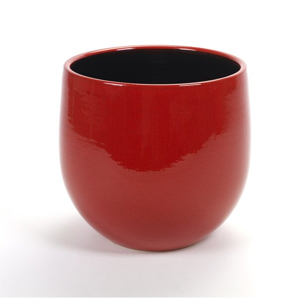 Embree Red Concrete Pot Planter by Bloomsbury Market