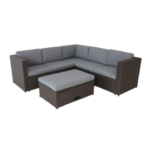 Aryan 4 Piece Rattan Deep Seating Group with Cushions by Bayou Breeze