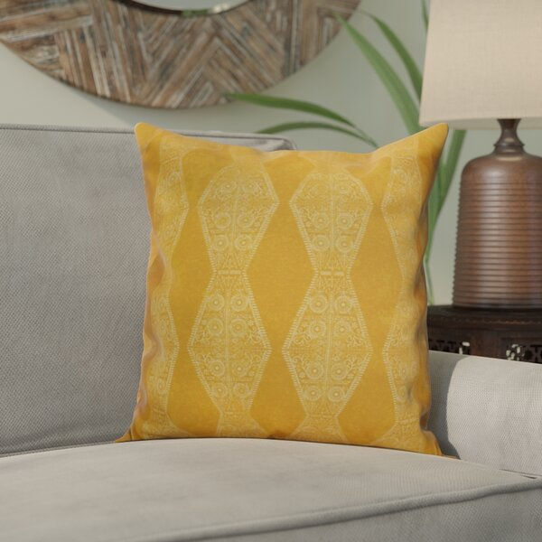 Soluri Pyramid Striped Geometric Throw Pillow by Bungalow Rose