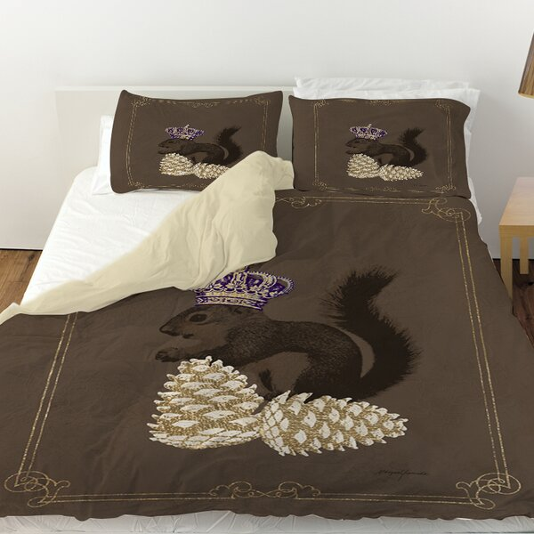 Luxury Lodge Squirrel Duvet Cover by Manual Woodworkers & Weavers