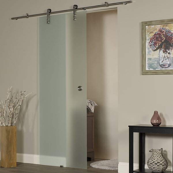 New Vision Ice Glass Interior Barn Door by LTL Barn Doors
