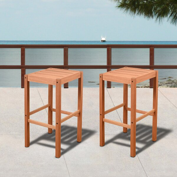 Boulder 31 Patio Bar Stool (Set of 2) by Highland Dunes