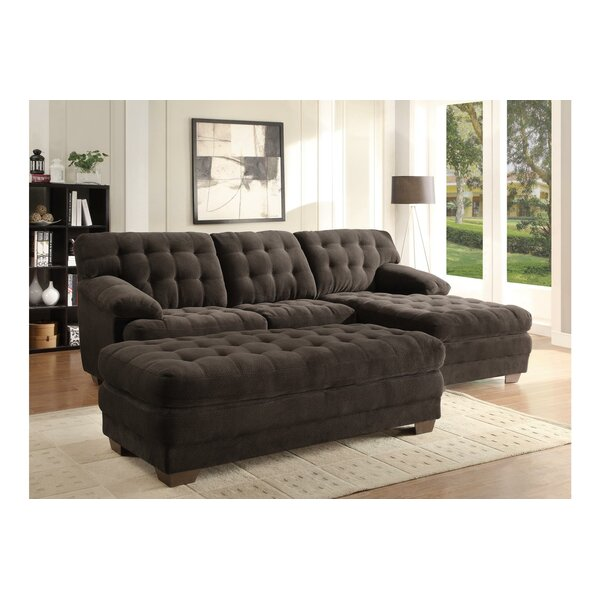 Brooks Sectional with Ottoman by Homelegance