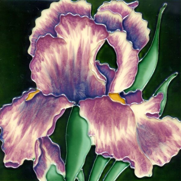 Light Iris Painting Tile Wall Decor by Continental Art Center