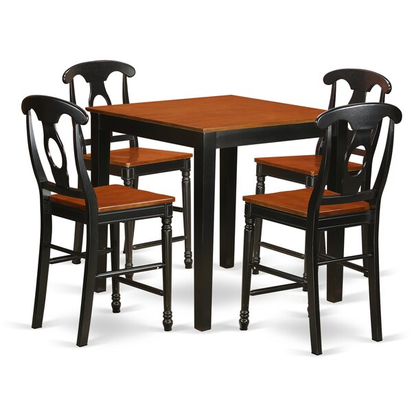 5 Piece Counter Height Pub Table Set by East West Furniture East West Furniture
