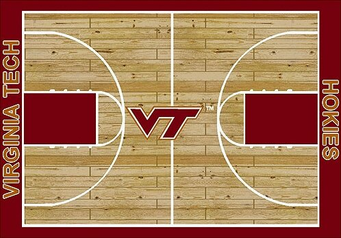 NCAA College Home Court Virginia Tech Novelty Rug by My Team by Milliken